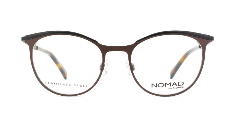 MOREL-Eyeglasses-40017 brown-women-eyeglasses-metal-oval