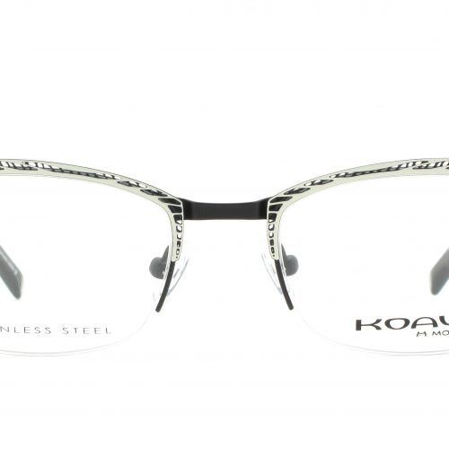 MOREL-Eyeglasses-20005 white-women-eyeglasses-metal-rectangle