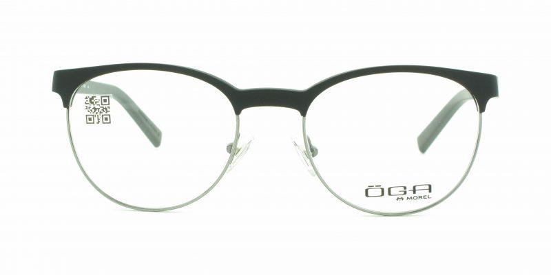MOREL-Eyeglasses-8268O black-men-eyeglasses-mixed-pantos