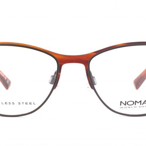 MOREL-Eyeglasses-2885N brown-women-eyeglasses-metal-round