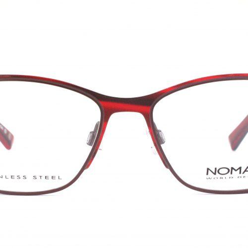 MOREL-Eyeglasses-2887N red-women-eyeglasses-metal-rectangle