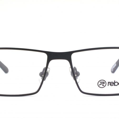 MOREL-Eyeglasses-7831R black-men-eyeglasses-metal-rectangle