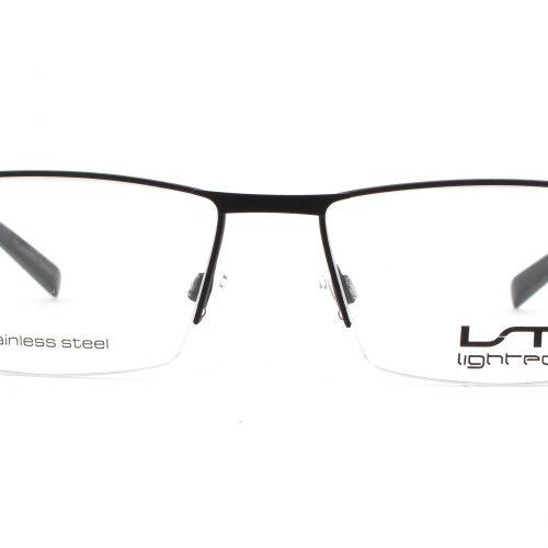 MOREL-Eyeglasses-7780L black-men-eyeglasses-metal-rectangle