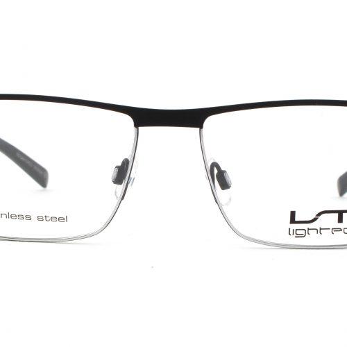 MOREL-Eyeglasses-7786L black-men-eyeglasses-metal-rectangle