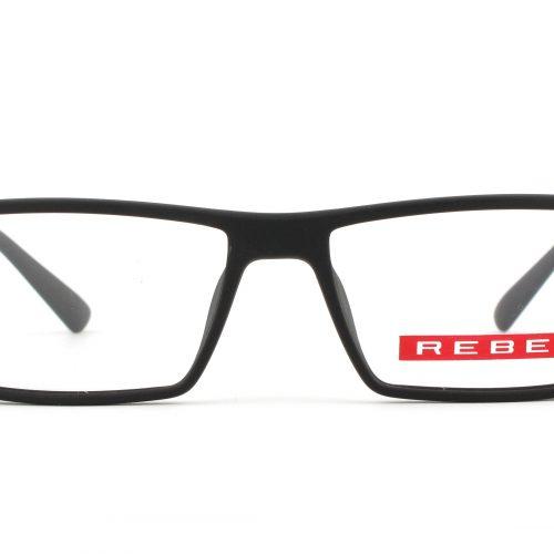 MOREL-Eyeglasses-7710R black-men-eyeglasses-plastic-rectangle