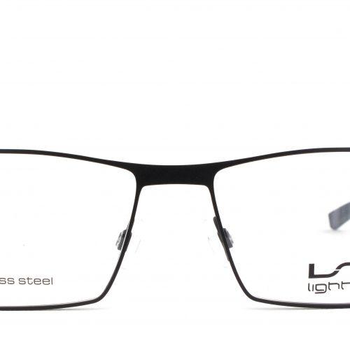 MOREL-Eyeglasses-7464L black-men-eyeglasses-metal-rectangle