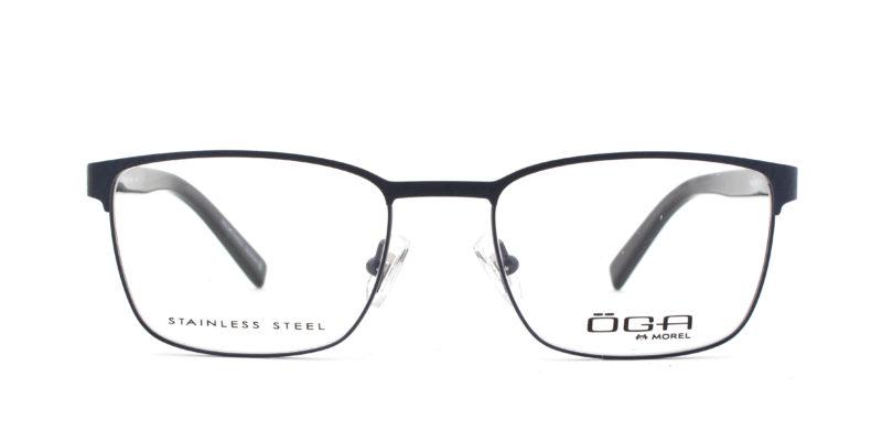 MOREL-Eyeglasses-10035 blue-men-eyeglasses-metal-rectangle
