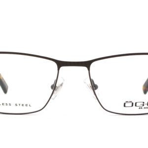 MOREL-Eyeglasses-10036 brown-men-eyeglasses-metal-rectangle