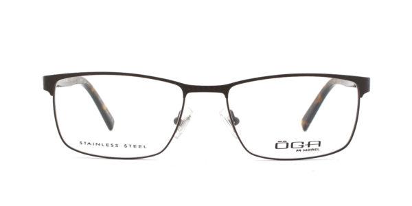 MOREL-Eyeglasses-10036 brown-men-eyeglasses-metal-rectangle