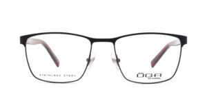 MOREL-Eyeglasses-10037 black-men-eyeglasses-metal-rectangle