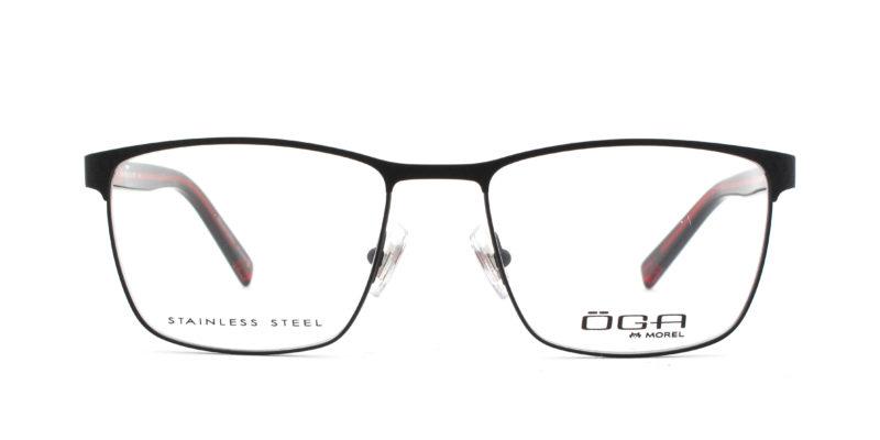 MOREL-Eyeglasses-10037 black-men-eyeglasses-metal-rectangle