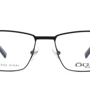 MOREL-Eyeglasses-10038 black-men-eyeglasses-metal-rectangle