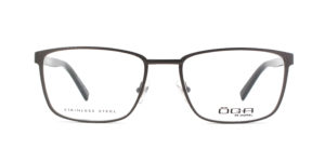MOREL-Eyeglasses-10039 grey-men-eyeglasses-metal-rectangle