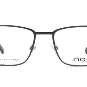 MOREL-Eyeglasses-10039 grey-men-eyeglasses-metal-rectangle