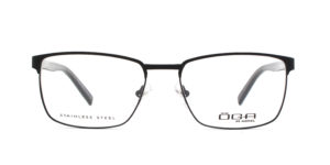 MOREL-Eyeglasses-10040 black-men-eyeglasses-metal-rectangle