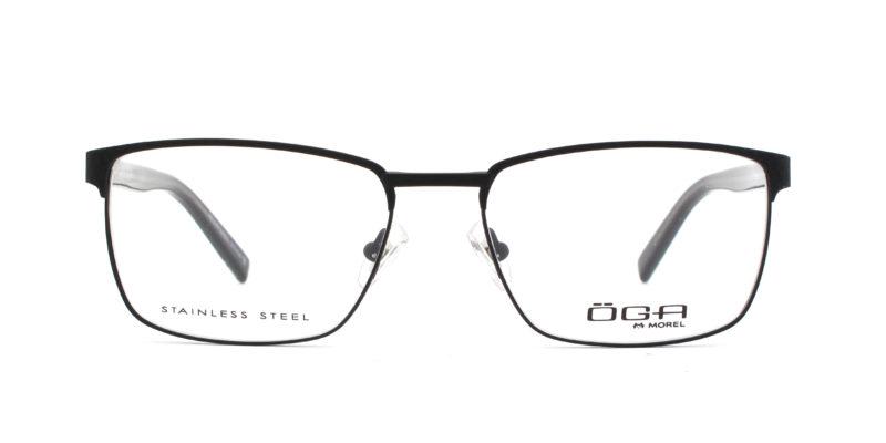 MOREL-Eyeglasses-10040 black-men-eyeglasses-metal-rectangle