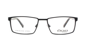 MOREL-Eyeglasses-10041 black-men-eyeglasses-metal-rectangle