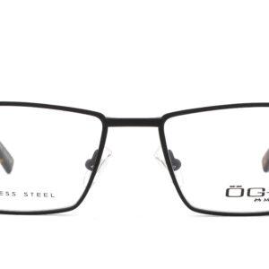 MOREL-Eyeglasses-10041 black-men-eyeglasses-metal-rectangle