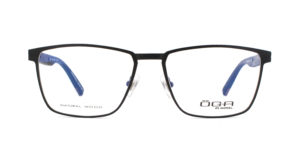 MOREL-Eyeglasses-10042 black-men-eyeglasses-metal-rectangle