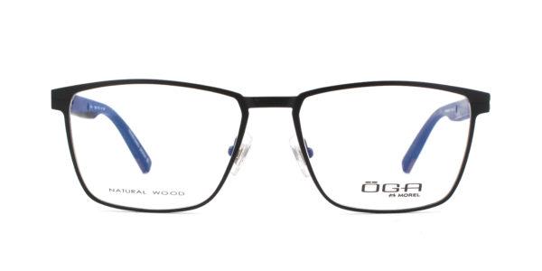 MOREL-Eyeglasses-10042 black-men-eyeglasses-metal-rectangle