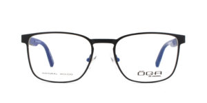 MOREL-Eyeglasses-10043 black-men-eyeglasses-metal-rectangle