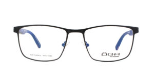 MOREL-Eyeglasses-10044 black-men-eyeglasses-metal-rectangle