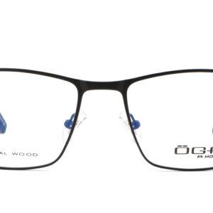 MOREL-Eyeglasses-10044 black-men-eyeglasses-metal-rectangle
