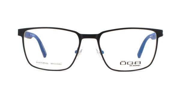 MOREL-Eyeglasses-10045 black-men-eyeglasses-metal-rectangle