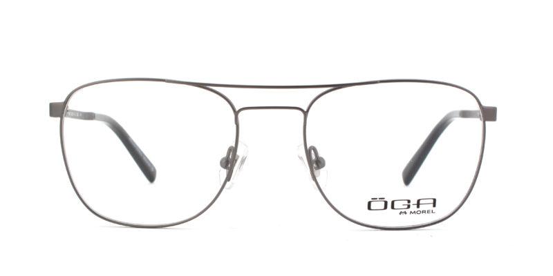 MOREL-Eyeglasses-10046 grey-men-eyeglasses-metal-pilot