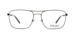 MOREL-Eyeglasses-10049 black-men-eyeglasses-metal-rectangle