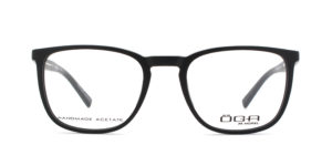 MOREL-Eyeglasses-10051 black-men-eyeglasses-acetate-rectangle