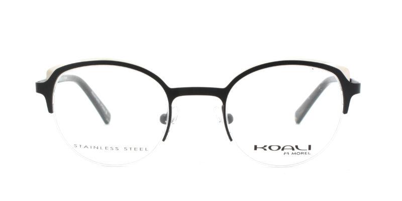 MOREL-Eyeglasses-20019 black-women-eyeglasses-metal-round