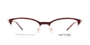 MOREL-Eyeglasses-30031 red-women-eyeglasses-mixed-rectangle