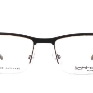 MOREL-Eyeglasses-30030 black-men-eyeglasses-mixed-rectangle