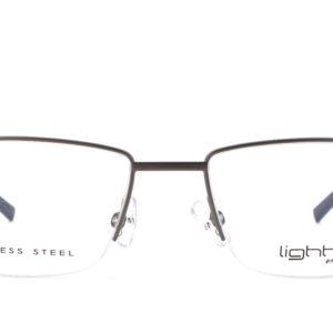 MOREL-Eyeglasses-30036 grey-men-eyeglasses-metal-rectangle