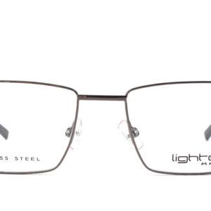 MOREL-Eyeglasses-30037 grey-men-eyeglasses-metal-rectangle