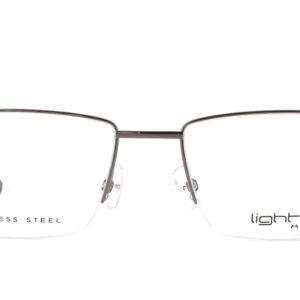 MOREL-Eyeglasses-30038 grey-men-eyeglasses-metal-rectangle