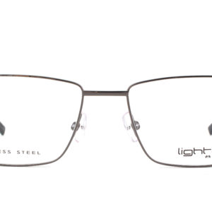 MOREL-Eyeglasses-30039 grey-men-eyeglasses-metal-rectangle