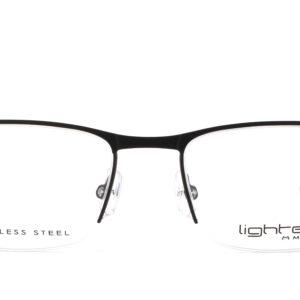MOREL-Eyeglasses-30040 black-men-eyeglasses-metal-rectangle