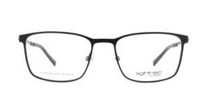 MOREL-Eyeglasses-30043 black-men-eyeglasses-metal-rectangle
