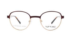 MOREL-Eyeglasses-30045 red-women-eyeglasses-metal-round