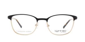 MOREL-Eyeglasses-30046 black-women-eyeglasses-metal-rectangle