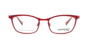 MOREL-Eyeglasses-40035 red-women-eyeglasses-metal-rectangle