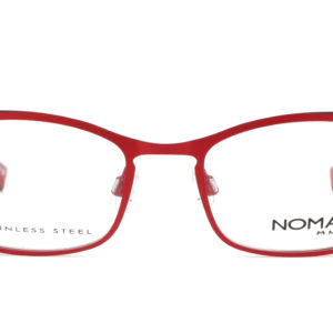 MOREL-Eyeglasses-40035 red-women-eyeglasses-metal-rectangle