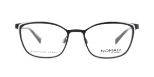 MOREL-Eyeglasses-40036 black-women-eyeglasses-metal-rectangle