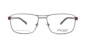 MOREL-Optique-10007 marron-Optique Homme-metal-rectangle