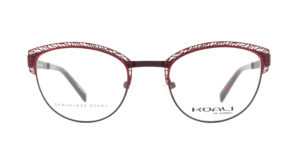 MOREL-Optique-20002 rouge-Optique Femme-metal-ovale