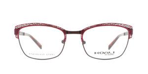 MOREL-Optique-20004 rouge-Optique Femme-metal-rectangle