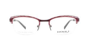 MOREL-Optique-20005 rouge-Optique Femme-metal-rectangle