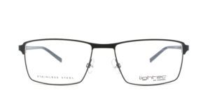MOREL-Optique-30012 noir-Optique Homme-metal-rectangle